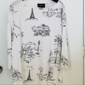Sag Harbor Paris theme graphic tee nwot size XL